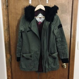 Bellfield Makushino Green Khaki Coat